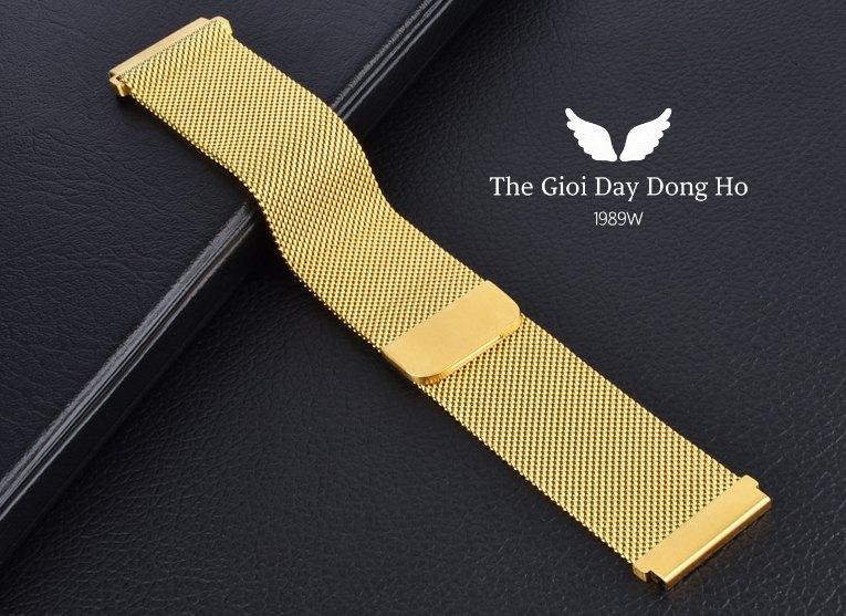 Thay dây Milanese Loop màu vàng