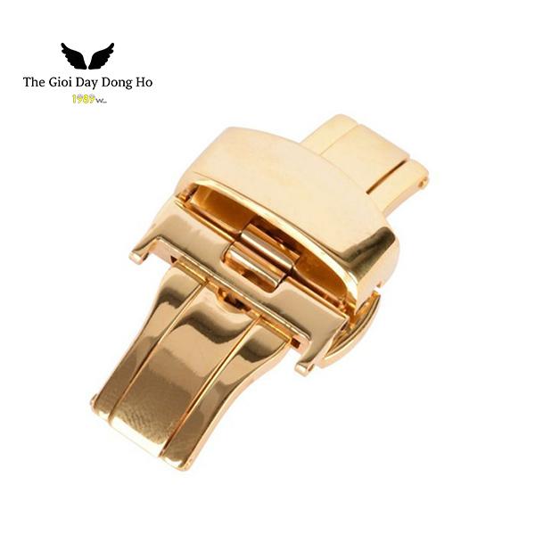khóa bướm dây đồng hồ màu vàng