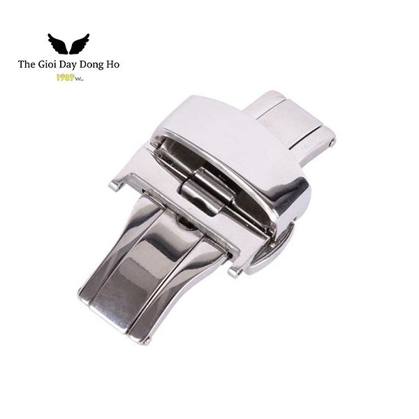 khóa bướm dây đồng hồ màu bạc